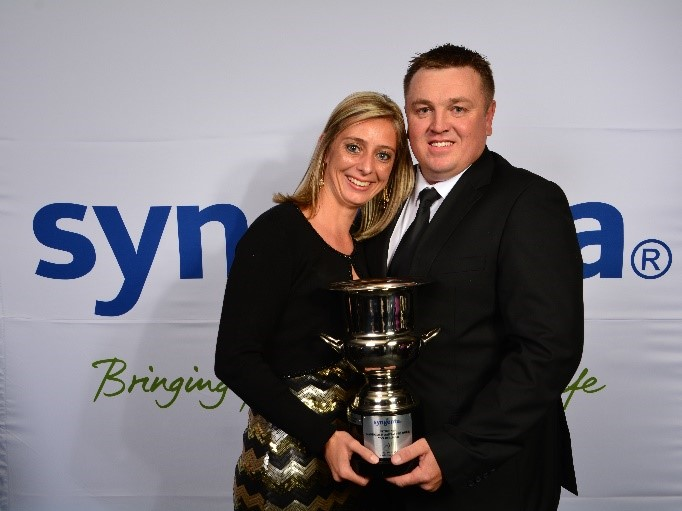 Syngenta National Potato Farmer of the Year 2015, Stephan Fourie and his wife Sussa, photo - Magic Photography